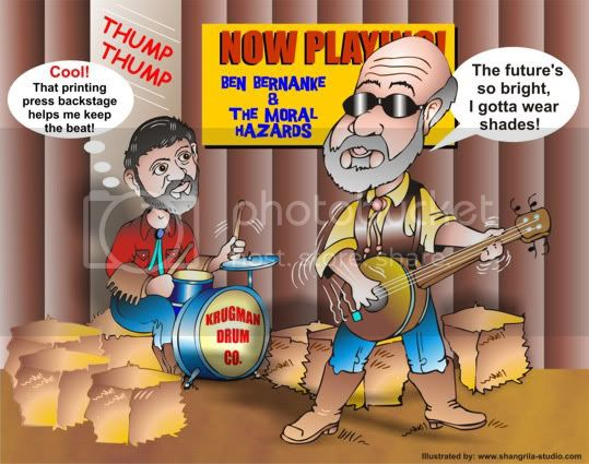 Bernanke and Krugman Cartoon