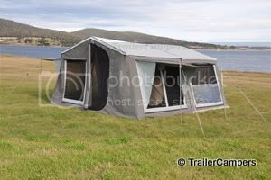 Tent with Annex &amp; Window Awnings
