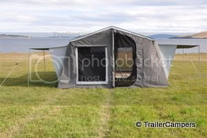 Main Tent &amp; Annex with Window Awnings